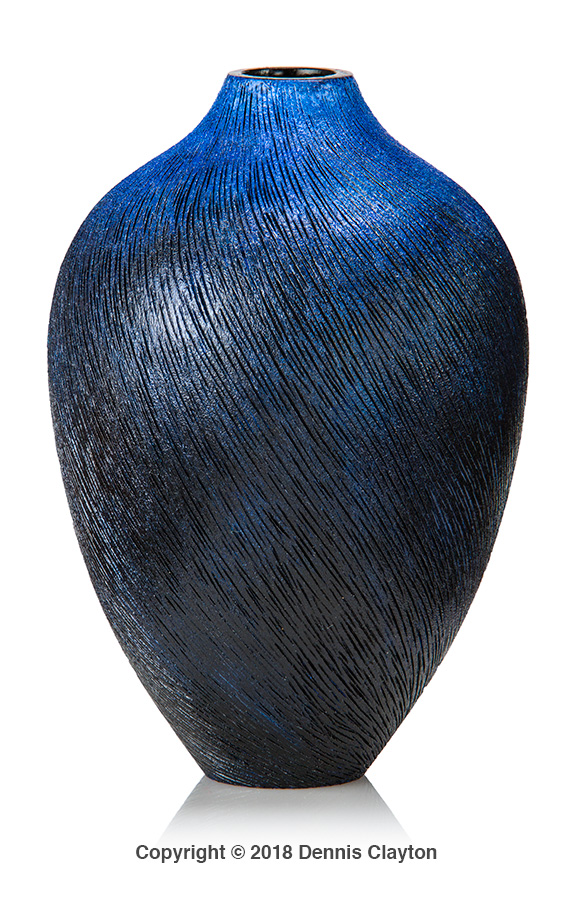 cherry hollow form, woodturning, textured